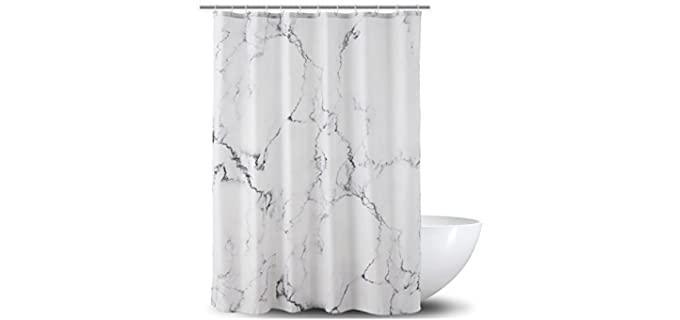Ao Blare Vibrant - Unique Marble Shower Curtain