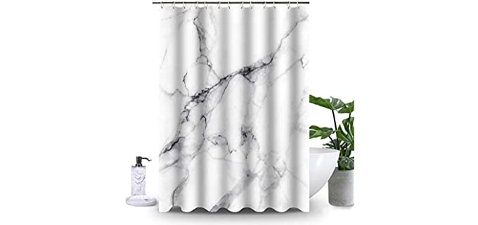 Uphome Classic - Decorative Marble Shower Curtain