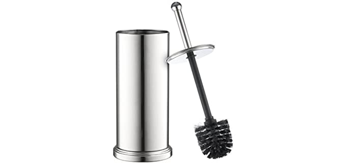 Home-it Alloy Steel - Toilet Brush With Lid