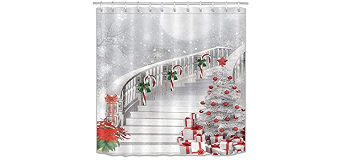 LB Christmas - Decorative Shower Curtain