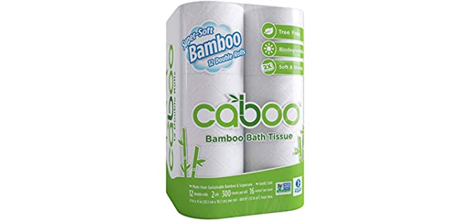 Caboo Bamboo - Biodegradable Toilet Paper