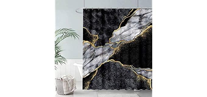 Fullsail White - Marble Shower Curtains