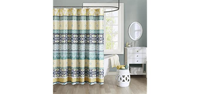 Intelligent Design Store Printed - Geometric Print Shower Curtain