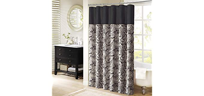 Madison Park Aubrey - Geometric Print Shower Curtain