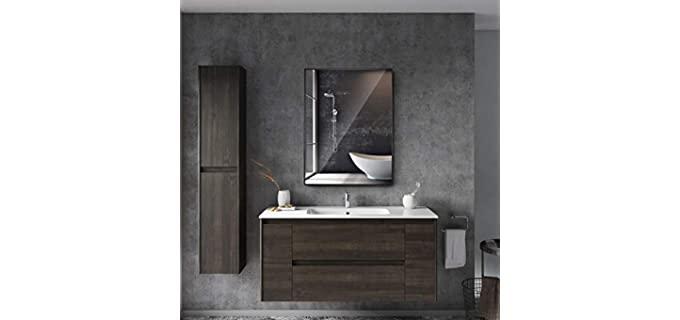 Bonverre Black Framed Mirror - Bathroom Mirror