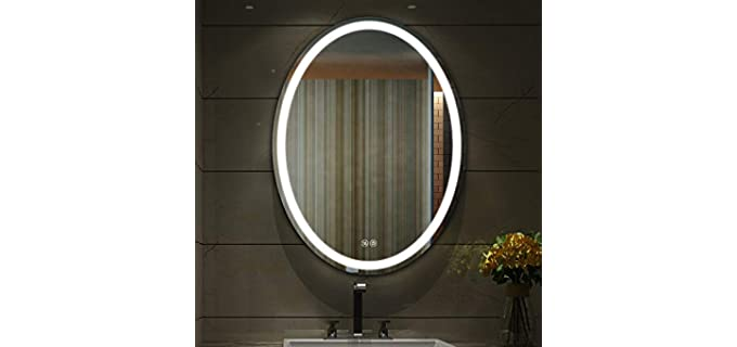 ISTRIPMF Oval - Lifetime LED Bathroom Mirror