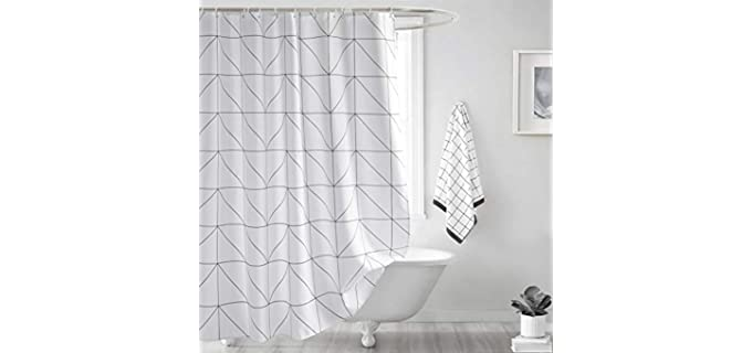Seavish Grey - Patterned Shower Curtain