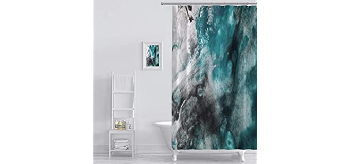 MuaToo Watercolor - Bathroom Curtain in Marble