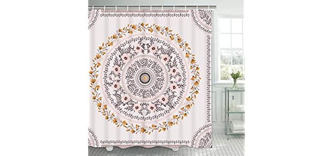 Tamoc Mandala - Boho Chic Bathroom Curtains