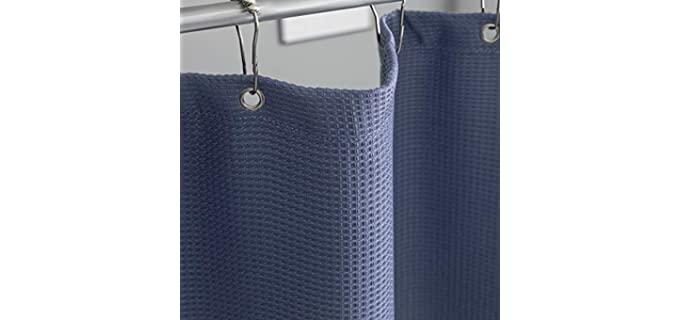 Whale Flotilla Tempest - Waffle Weave Shower Curtain