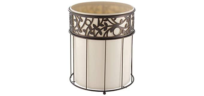 iDesign Vine Metal - Bathroom Waste Basket