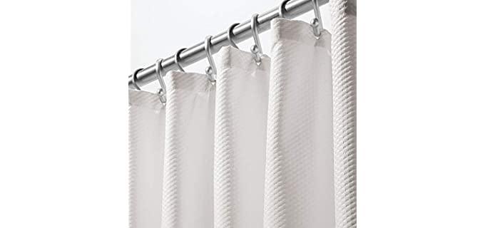 mDesign Light-Weight - Microfiber Shower Curtain