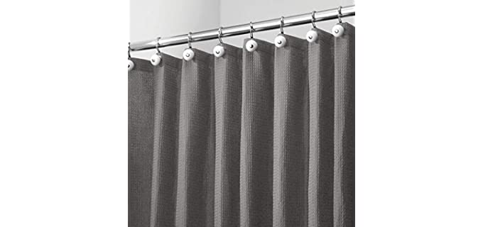 mDesign Honeycomb - Waffle Weave Shower Curtain