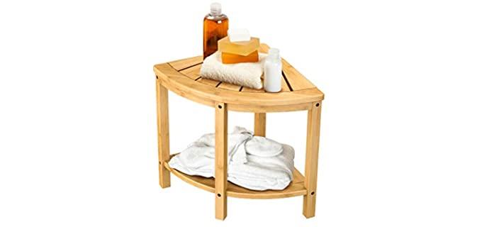 Bamfan Bamboo - Shower Corner Bench Seat