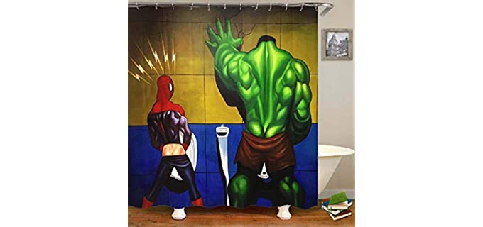 Caiyi Marvel Characters - Shower Curtain