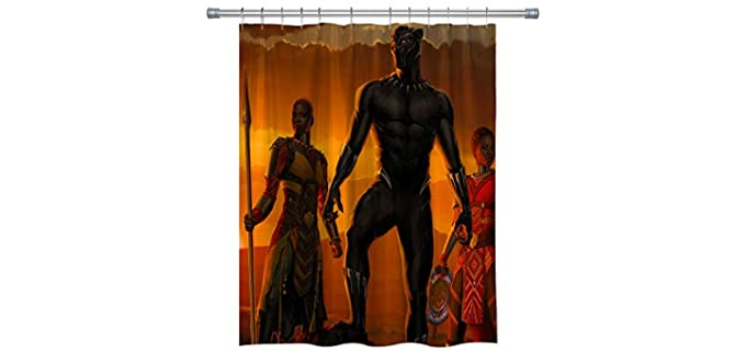 Elite ETSPY Black Panther - Shower Curtain Marvel