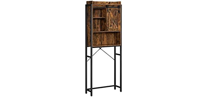 VASAGLE Rustic - Steel Frame Over-Toilet Cabinet