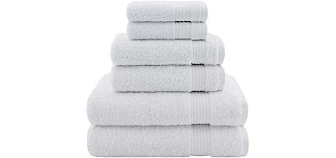 Cotton Paradise Turkish Cotton - Snow White Decorative Bath Towels