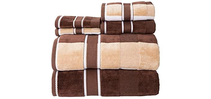Lavish Home Velour - Brown Decorative Bath Towels