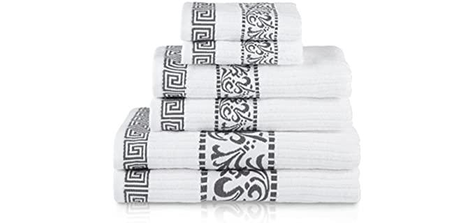 Superior LUX Combo - Decorative Bath Towels Gray