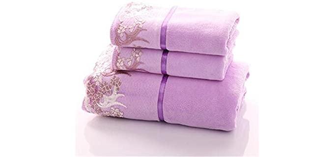 YIH Plush - Purple Decorative Bath Towels