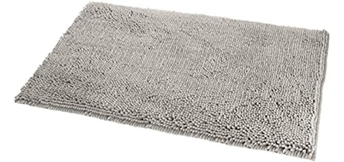 AmazonBasics Microfiber - Affordable Non-Slip Shower Rug