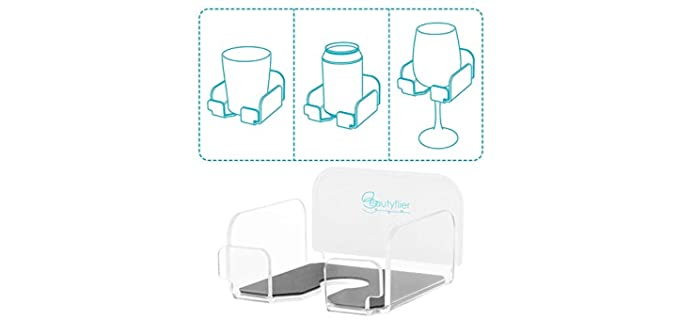 Beautiflier Acrylic - Wine Glass Holder for the Shower
