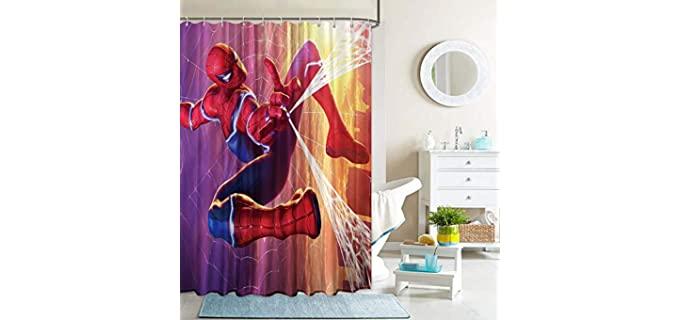 PntBab Spiderman - Cartoon Marvel Shower Curtain