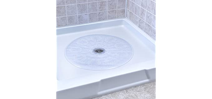 SlipX Clear Round - Shower Mat with Drainage Hole