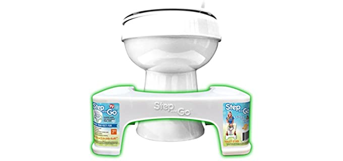 Step and Go LLC Wide - Plastic Toilet Stool