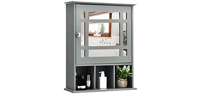 Tangkula Bathroom Mirror - Medicine Cabinet