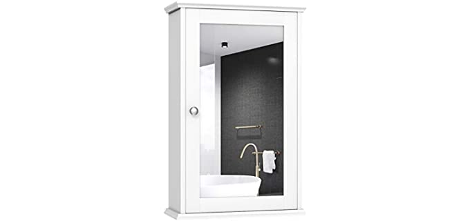 Tangkula Mirrored - Bathroom Cabinet