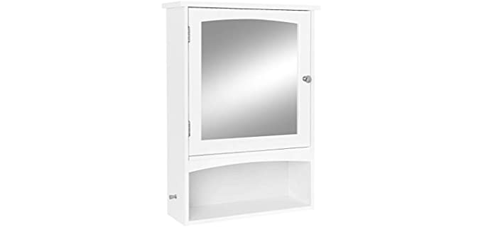 Vasagle Organizer - Bathroom Cabinet with Mirrors